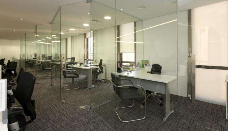 Divisoria de Vidro Temperado para Empresas á Venda Paineiras do Morumbi - Divisoria Vidro Temperado Escritório