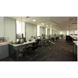divisoria de vidro para escritórios Imirim