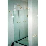 divisoria de vidro temperado para banheiro