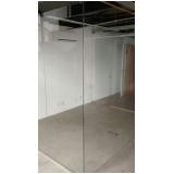 divisoria de vidro temperado escritório á venda Jandira