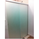 divisoria de vidro temperado para banheiro á venda São Sebastião