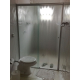 divisoria de vidro temperado para banheiro Taboão da Serra