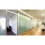 divisoria de vidro temperado para escritório á venda Alto da Boa Vista