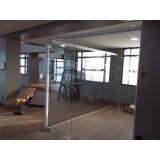 divisoria em vidro temperado á venda Vila Formosa