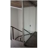divisoria em vidro temperado para residências á venda Campinas