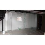 divisoria em vidro temperado para residências Poá