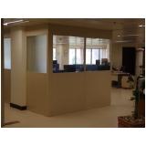 divisoria para escritório de madeira valor Vila Morumbi
