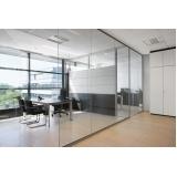 divisoria para escritório em alumínio e vidro valor Ilhabela