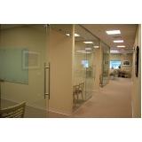 divisoria para escritório em alumínio e vidro Jandira