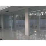 divisorias de vidro temperado escritório Centro