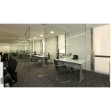 divisorias de vidro temperado para escritório Ibirapuera