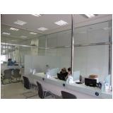 divisorias de vidros para escritório Zona Sul