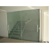 divisorias em vidro temperado para casas Marília