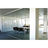 divisorias para escritório em alumínio e vidro São José dos Campos