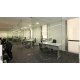 divisorias vidro temperado escritório Chácara Inglesa
