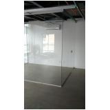 instalação de divisoria de vidro temperado escritório Hortolândia