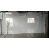 instalação de divisoria em vidro temperado para residências Itu
