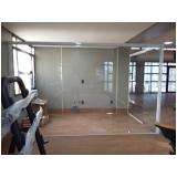 instalação de divisoria em vidro temperado Ibirapuera