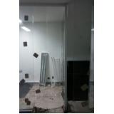 serviço de divisoria de vidro para sanitários Santa Isabel