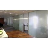 serviço de divisoria vidro temperado escritório Chácara Santo Antônio