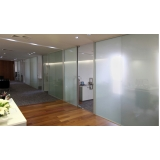 serviço de divisoria vidro temperado escritório  Fazenda Morumbi